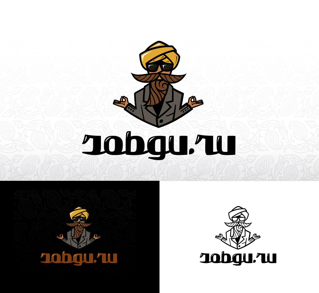 Логотип для банка вакансий «Jobguru»
