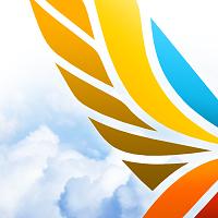 Шаблон логотипа для туристического агенства «Улетай»