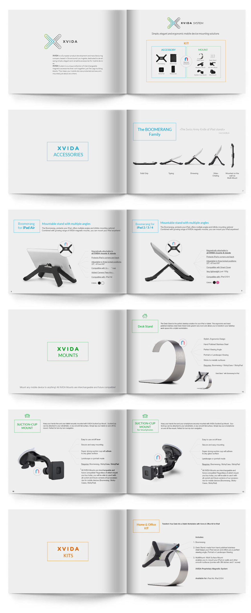 Дизайн и верстка каталога компании XVida