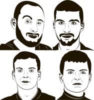 Портреты в стиле флип флоп