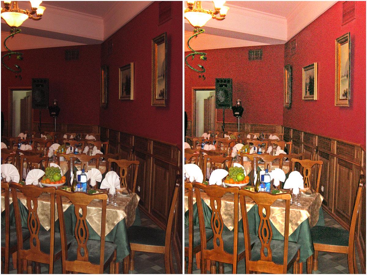 Выравнивание освещения при фотографирова