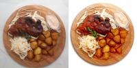 Блюдо с картофелем и мясом