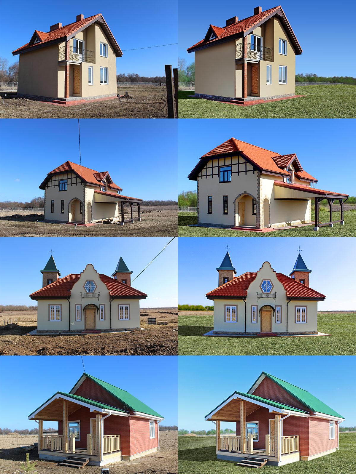 Архитектурный дизайн (дачные домики)