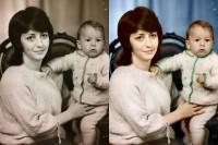 Фото в цвет (мама с ребенком)