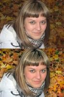 Ретушь портрета (девушка осень)