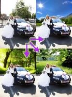 Замена фона (свадьба)