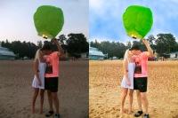 Обработка фото (бумажный шарик)