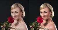 Модель с розой