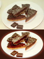 Обработка еды (тортики)