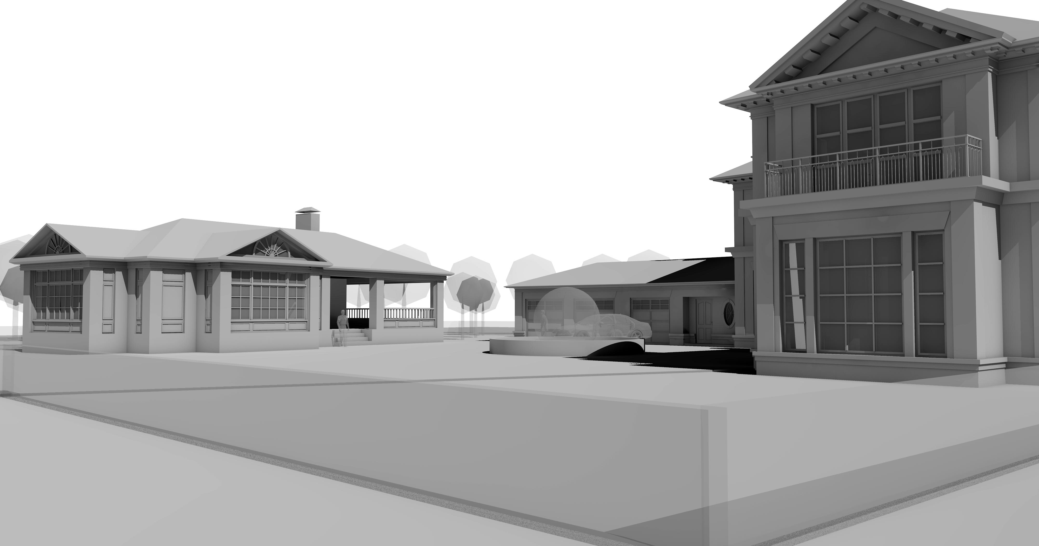 Архитектурное моделирование. Усадьба. Тамбов.