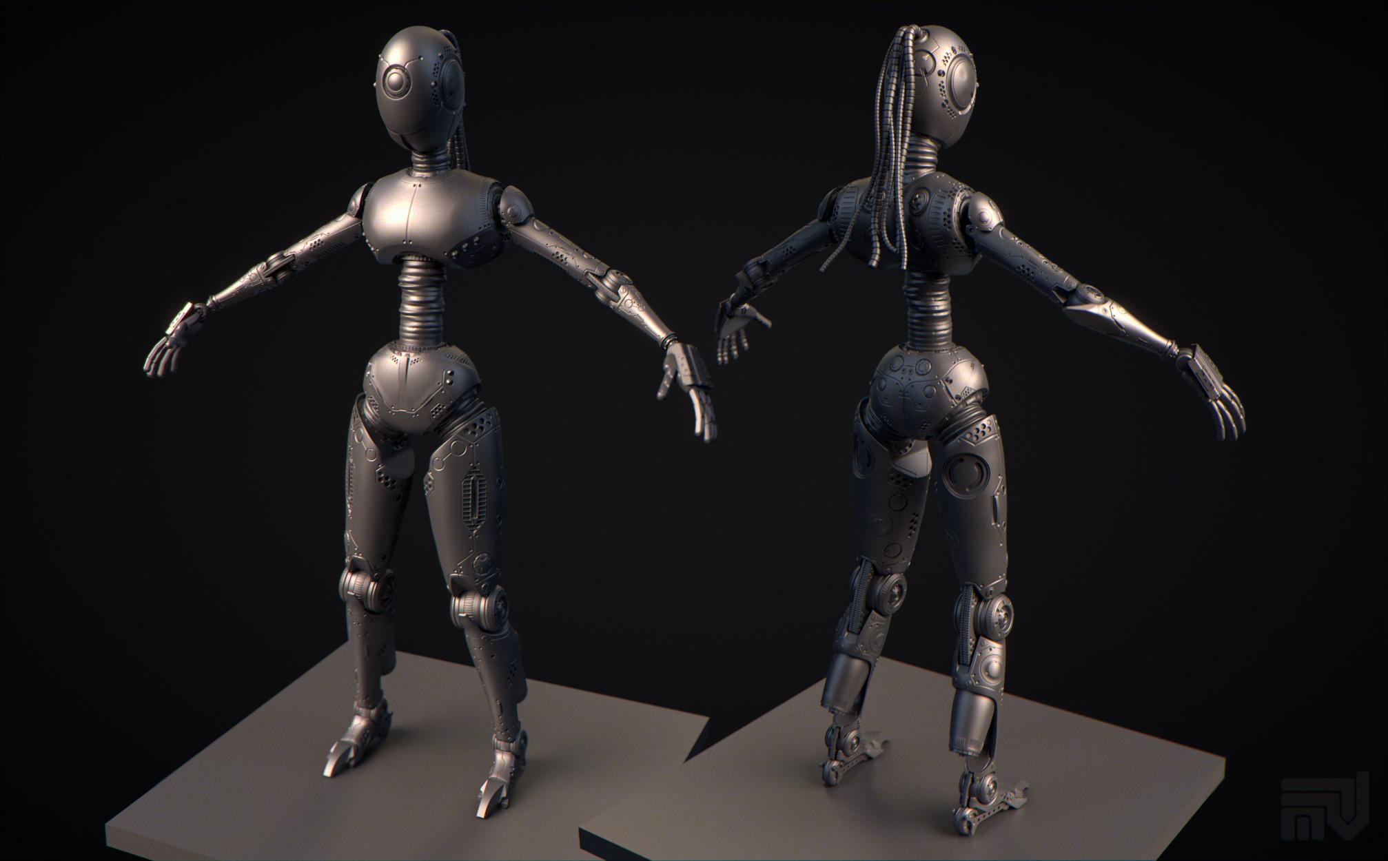 Робот для игры (скульпт)