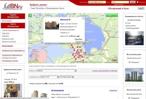 Добавление функциональности Яндекс.Карт на сайт fullbn.ru