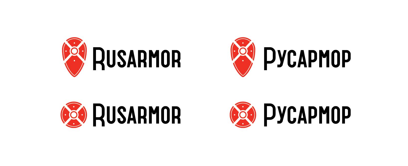 Разработка логотипа технологического стартапа РУСАРМОР фото f_8045a0b0f8546aab.jpg