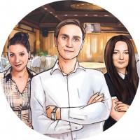 Иллюстрация на главную сайта ресторана