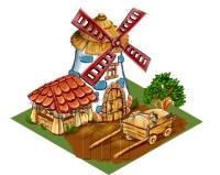 мельница,домики