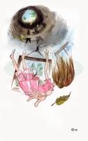 Алиса падает в нору