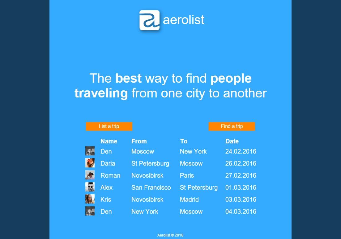 Aerolist