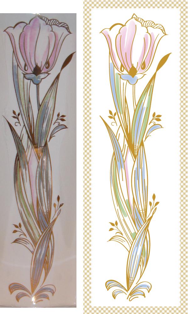 Цветок с узором