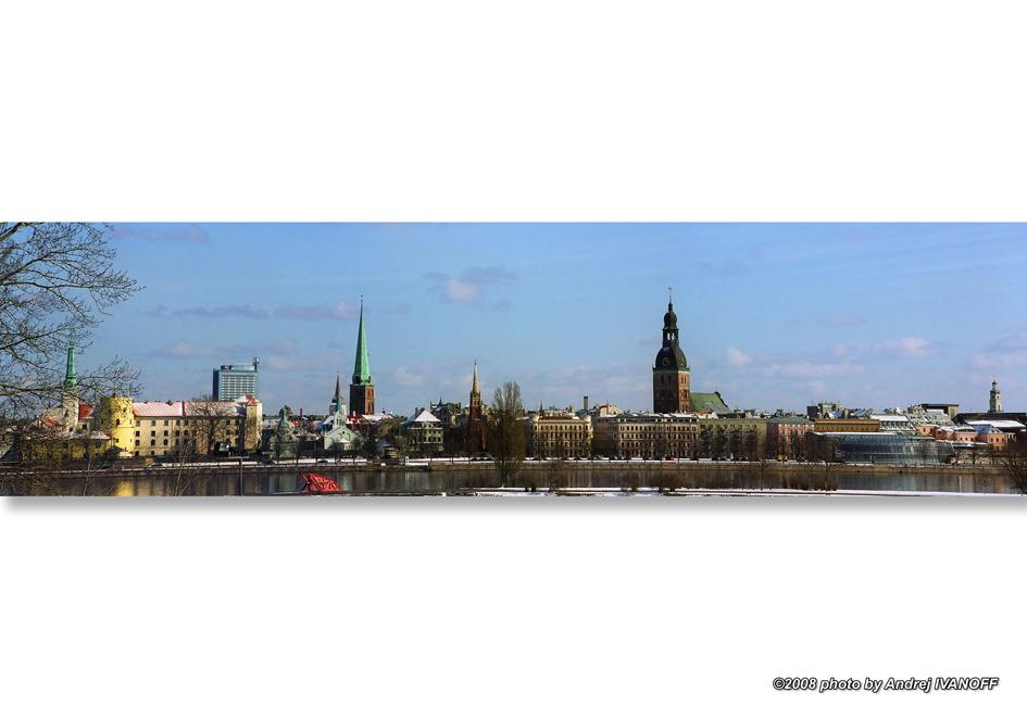 Весенняя панорама Риги 2008