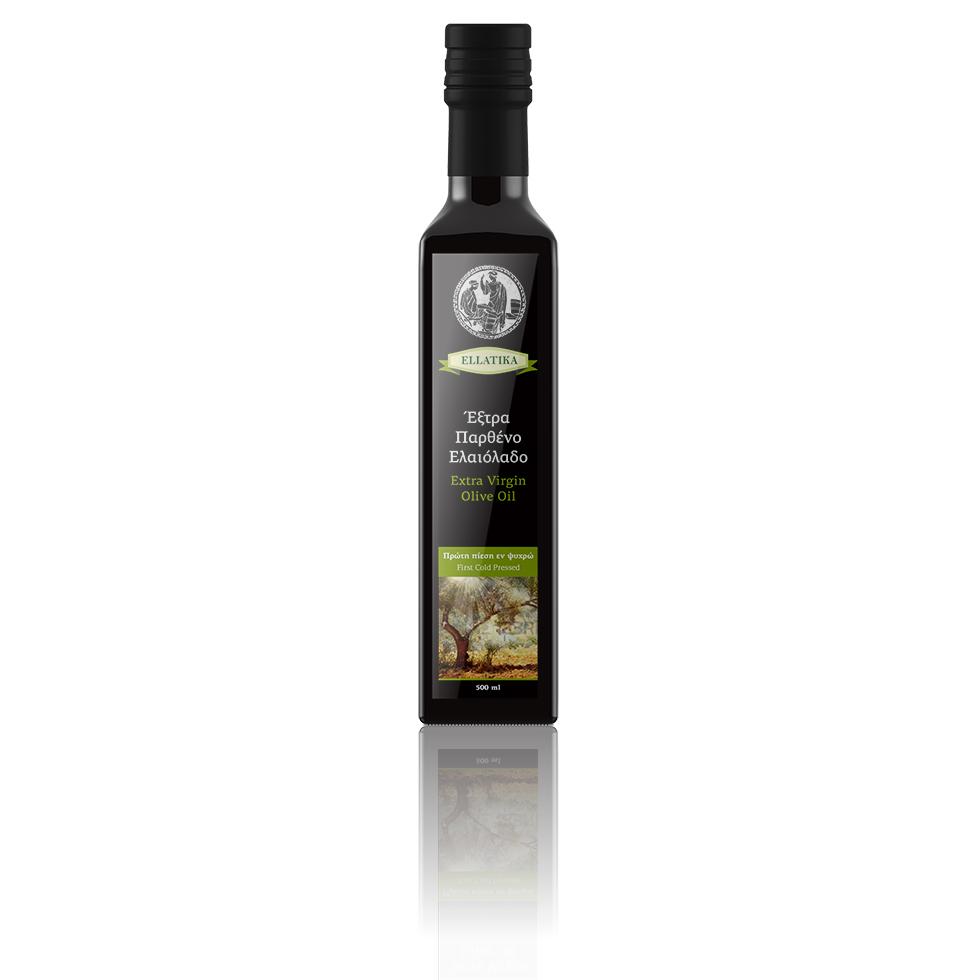 Дизайн этикетки оливкого масла. Бутылка