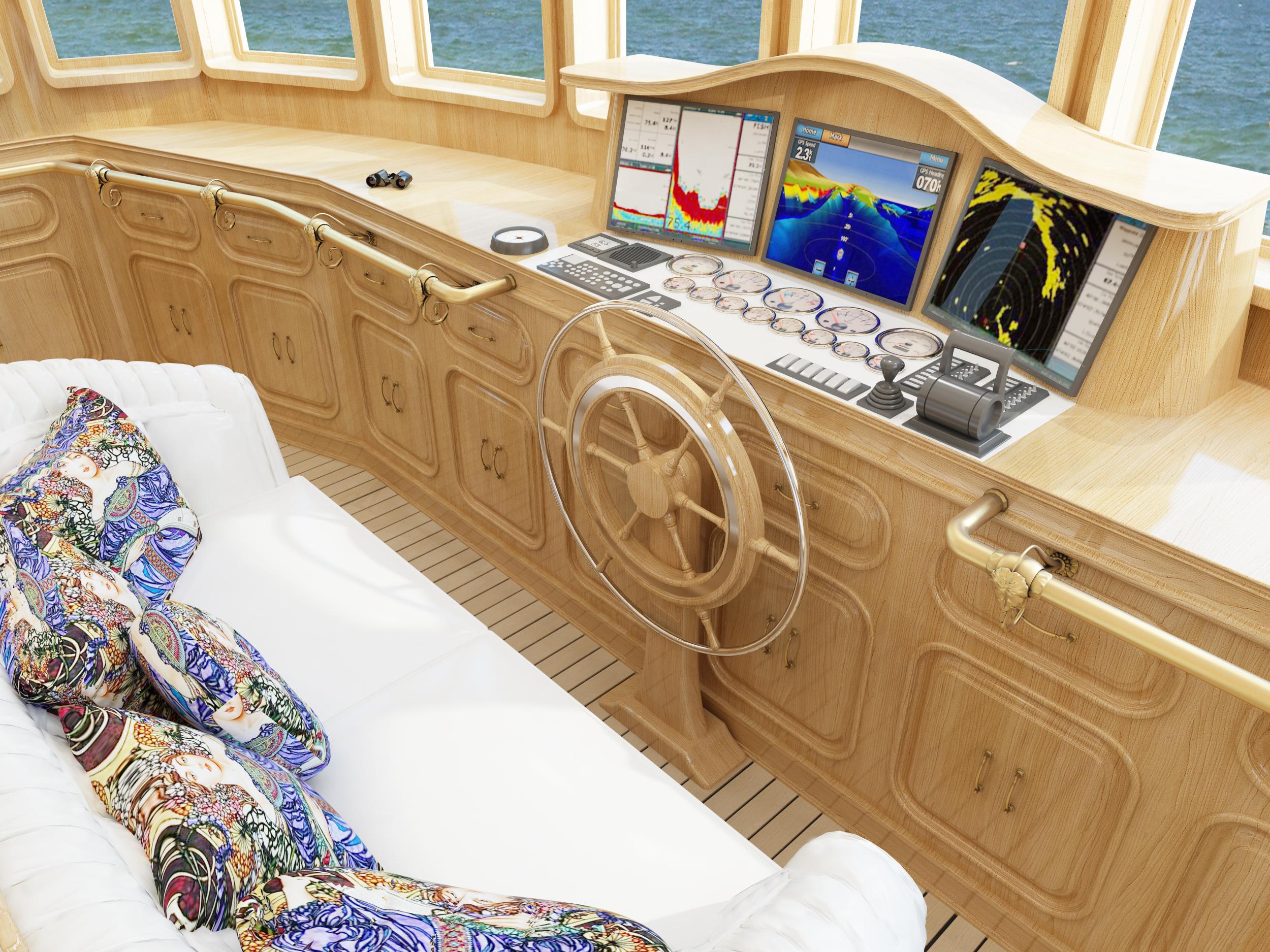 Визуализация интерьера яхты