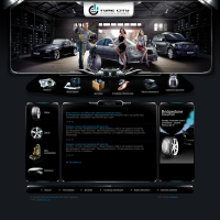 Tyrecity - дизайн сайта шинного магазина.