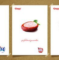 постеры для линейки молочных продуктов
