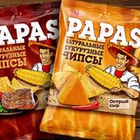 """Дизайн упаковки чипсов """"PAPAS"""""""