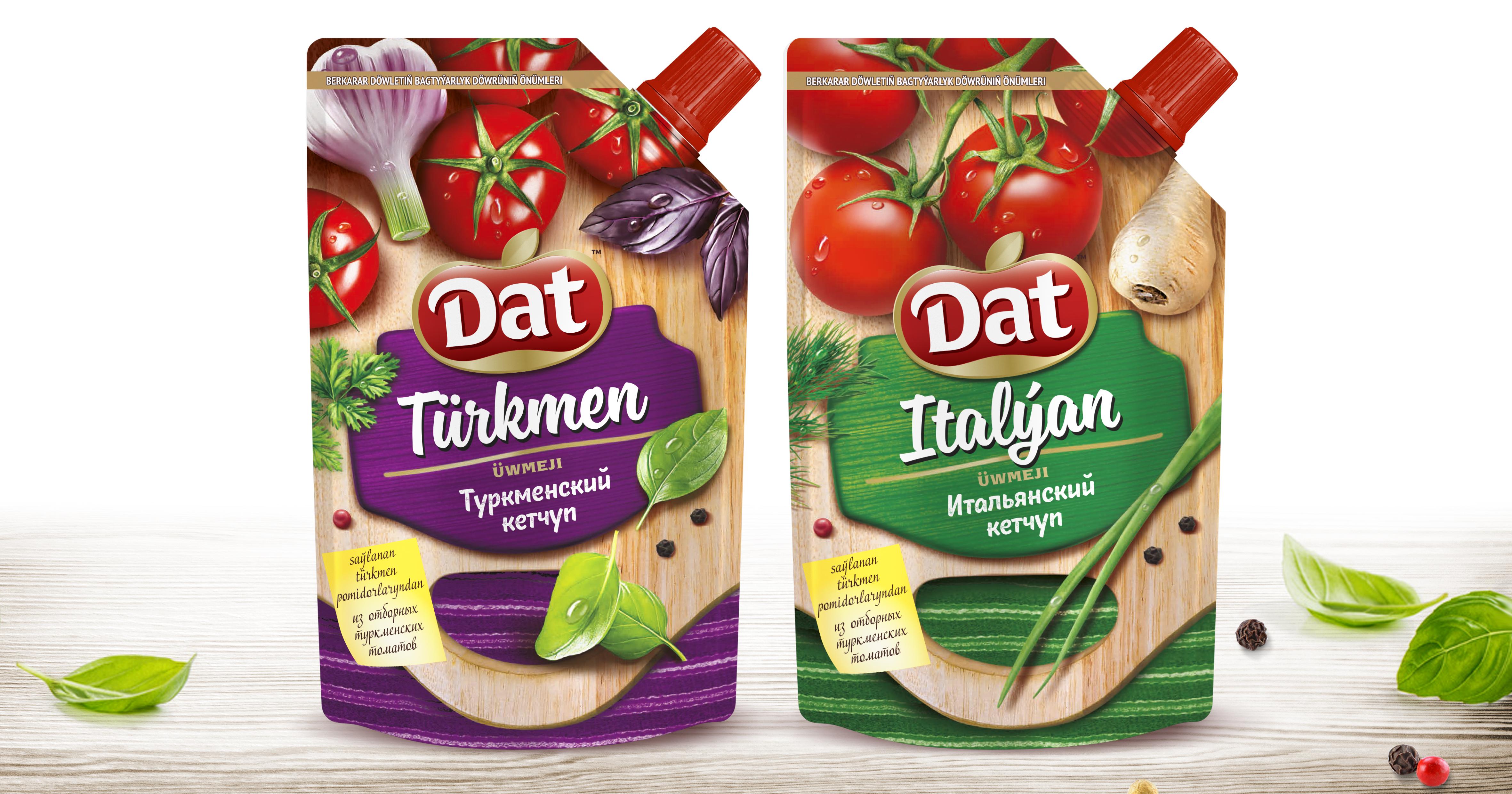 "Design of the concept sauces TM ""Dat"""