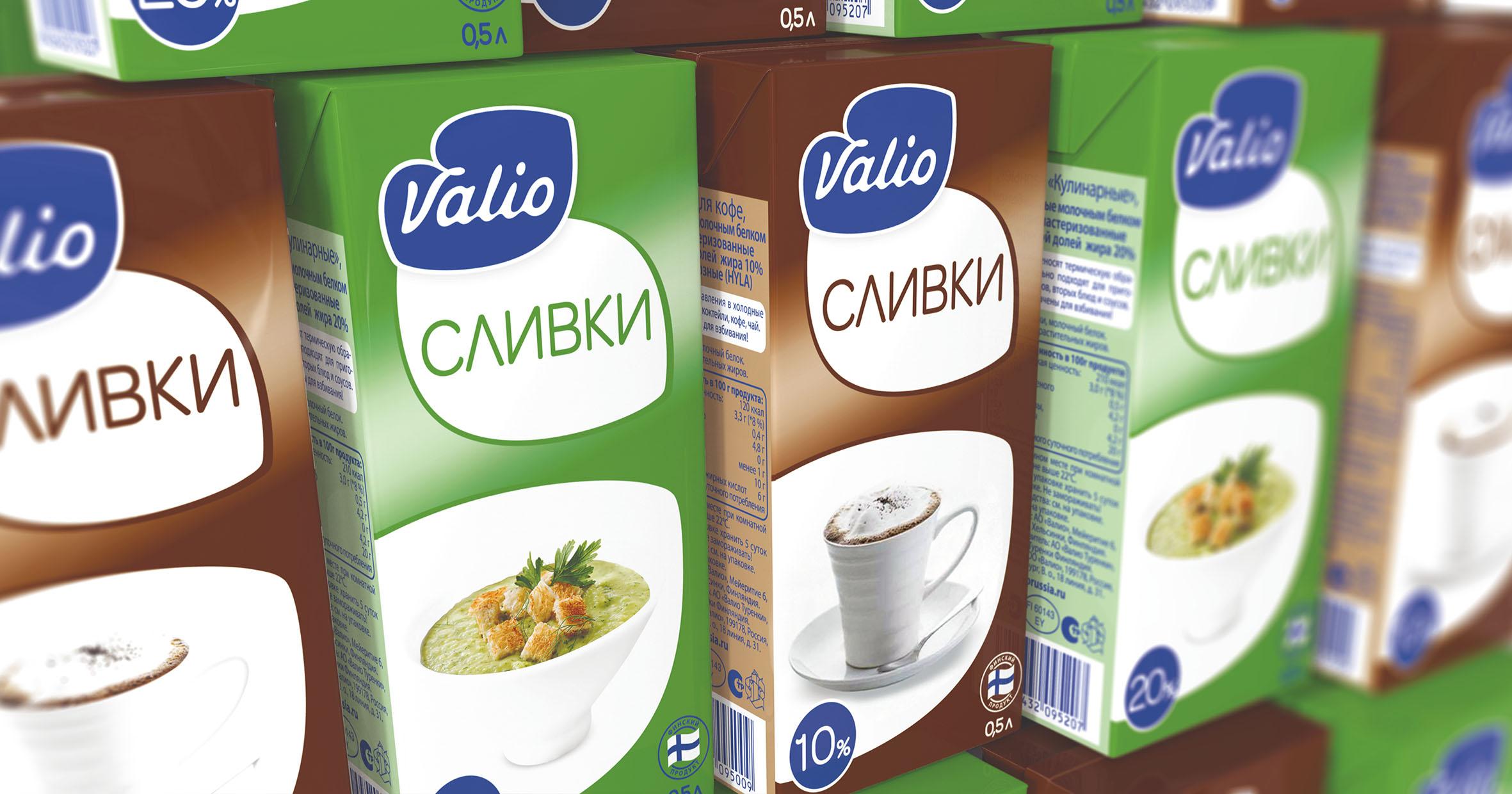 Concept design Valio cream