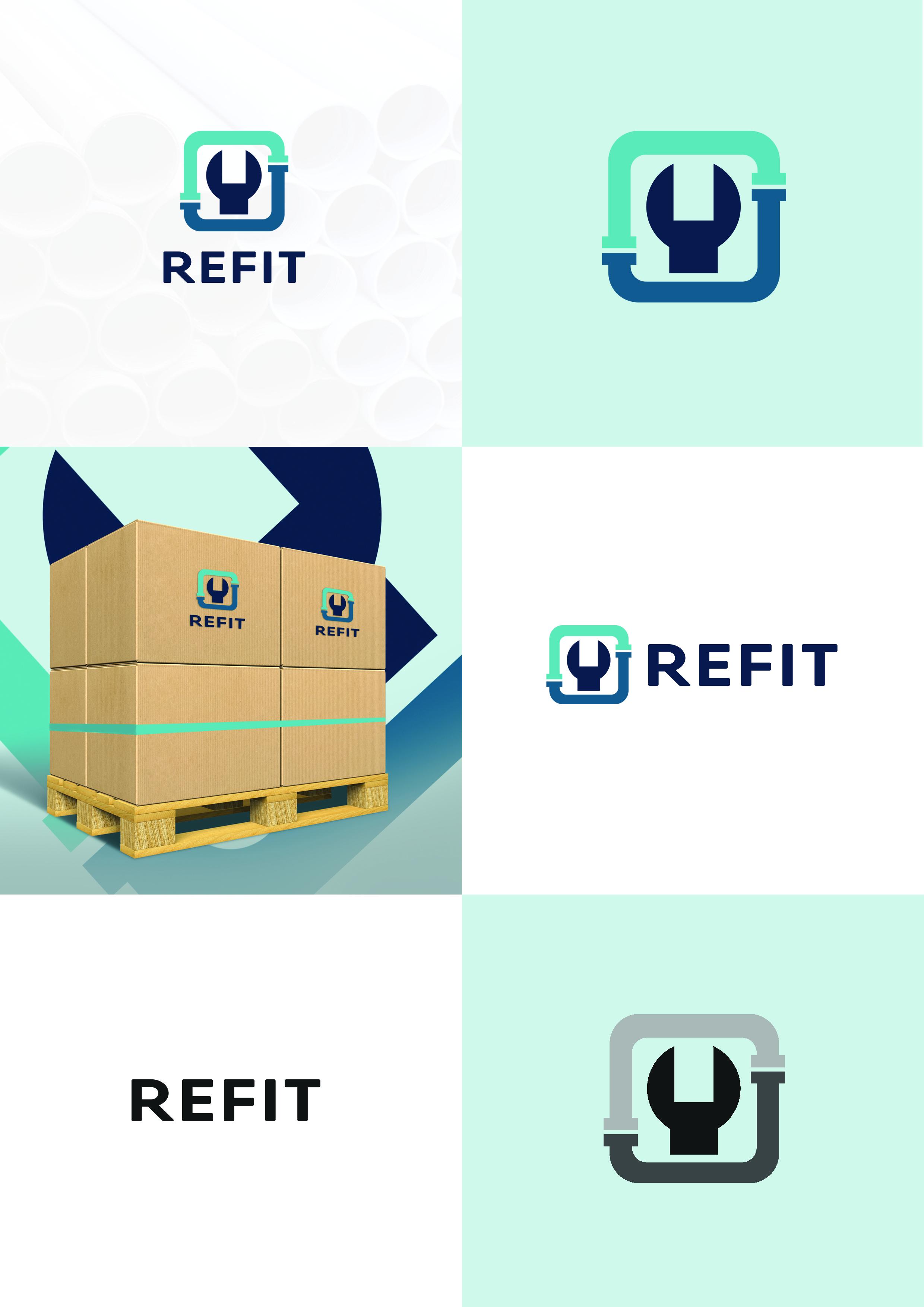 логотип для эконом линейки трубопроводов Refit