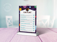 Table tent Cake planet