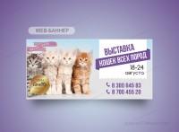 Баннер на сайт Выставка кошек
