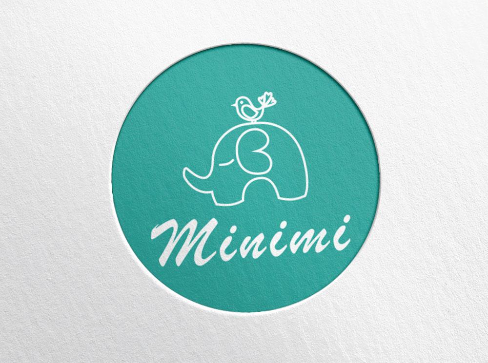 Цель: Разработать логотип детской дизайнерской одежды Мinimi фото f_6935b226c58479ce.jpg