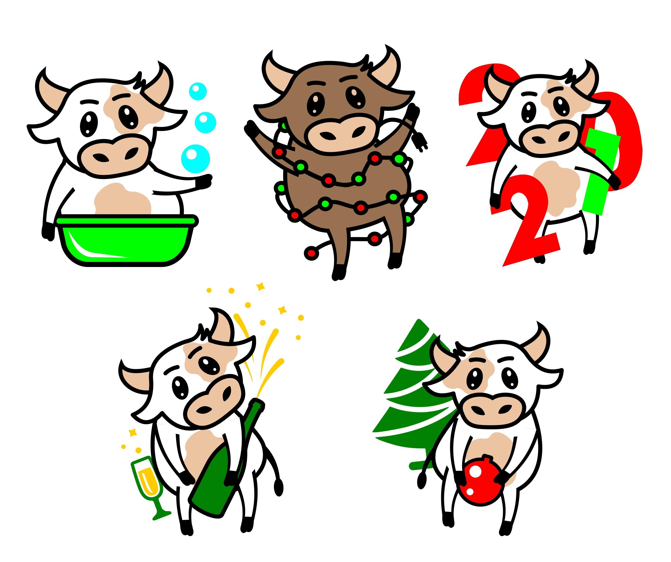 Создать рисунки быков, символа 2021 года, для реализации в м фото f_4555ee8edbdb859a.jpg