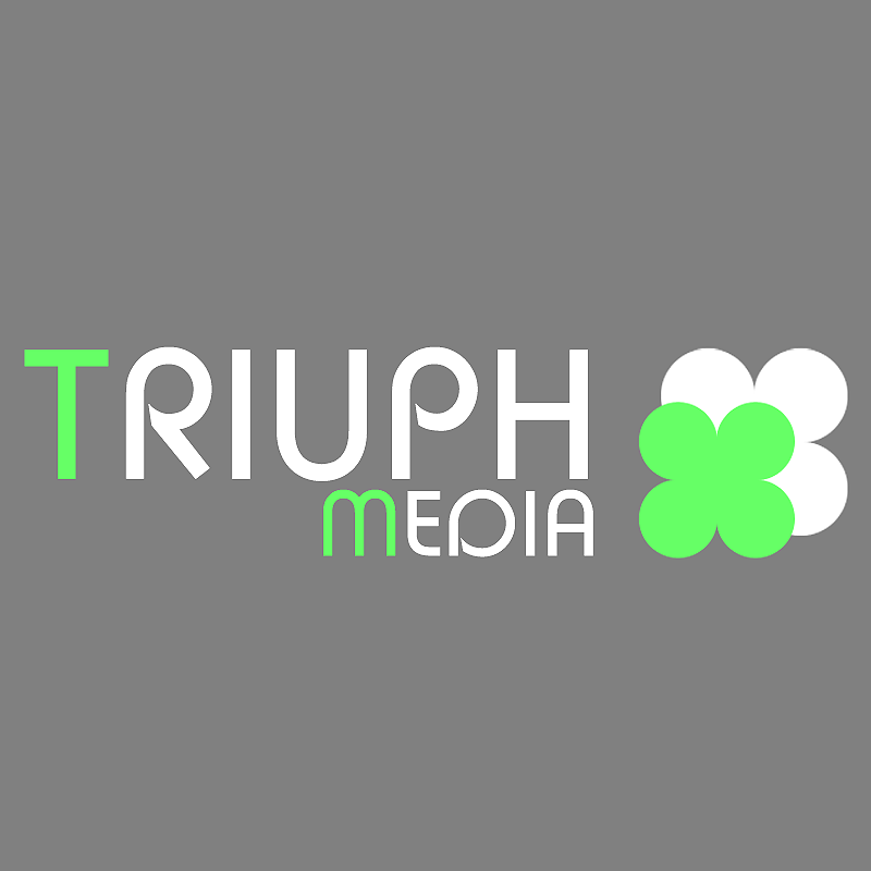 Разработка логотипа  TRIUMPH MEDIA с изображением клевера фото f_5076d124884db.png