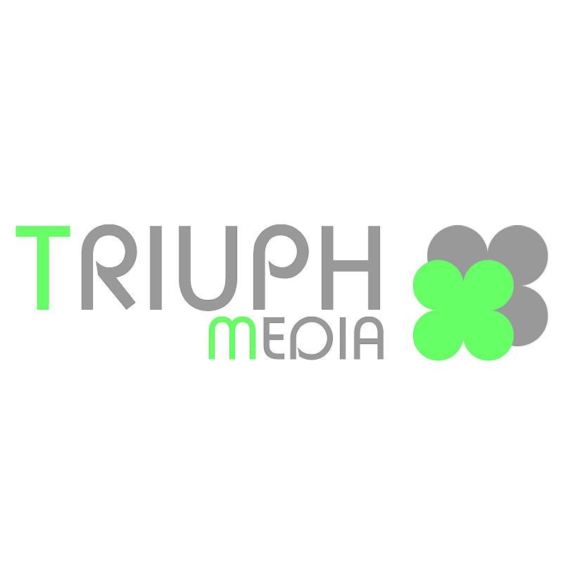 Разработка логотипа  TRIUMPH MEDIA с изображением клевера фото f_5076d12c65998.png