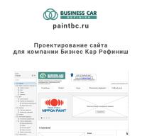 Проектирование сайта для  Business Car Refinish 40+ прототипов
