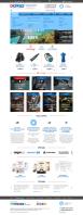 Дизайн главной страницы по прототипу diskus.ru (снаряжение для подводного плавания)
