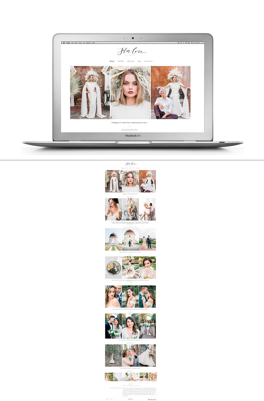 Сайт портфолио свадебного фотографа Julii Lexx