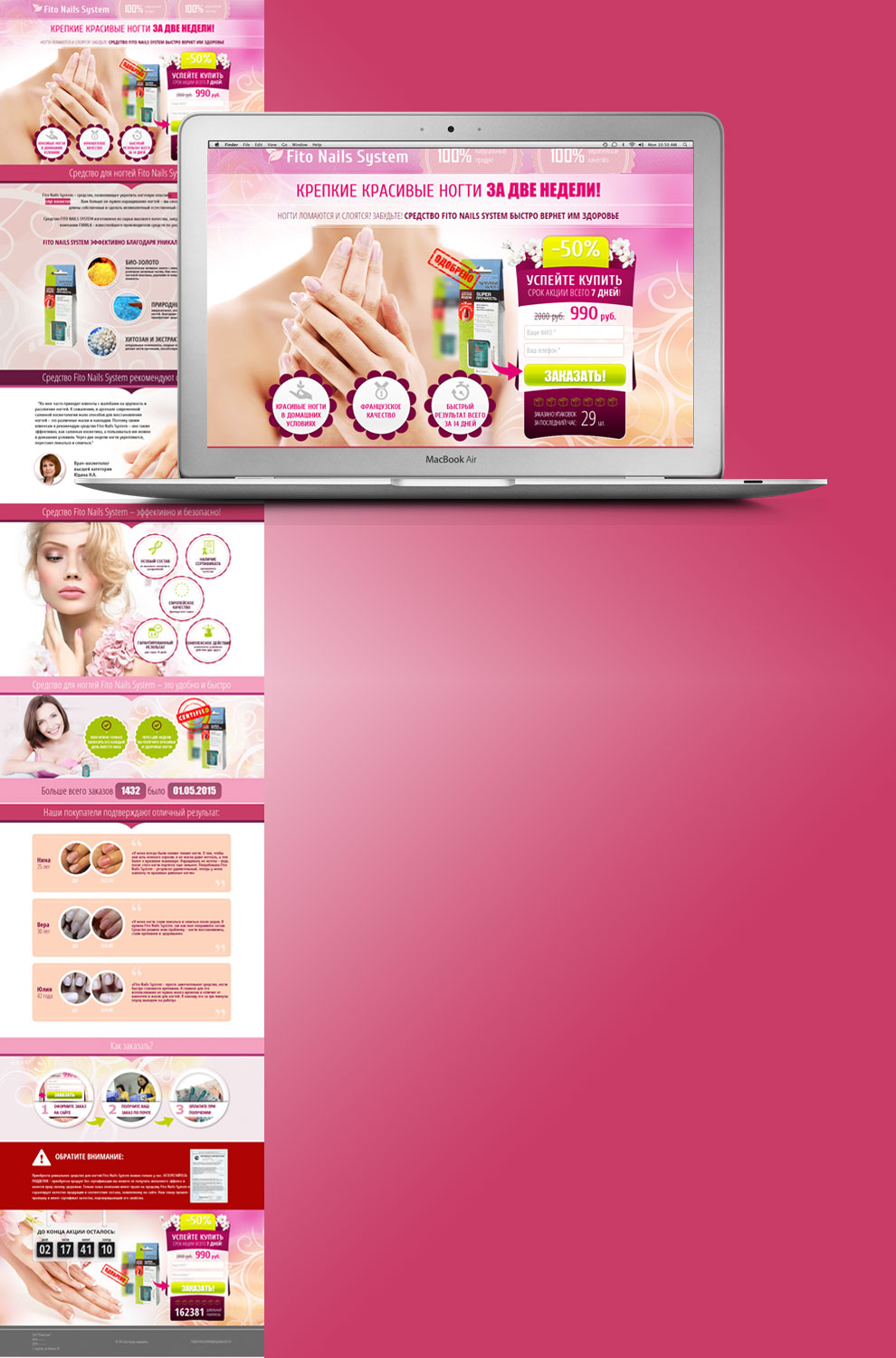 Landing Page Fito Nails