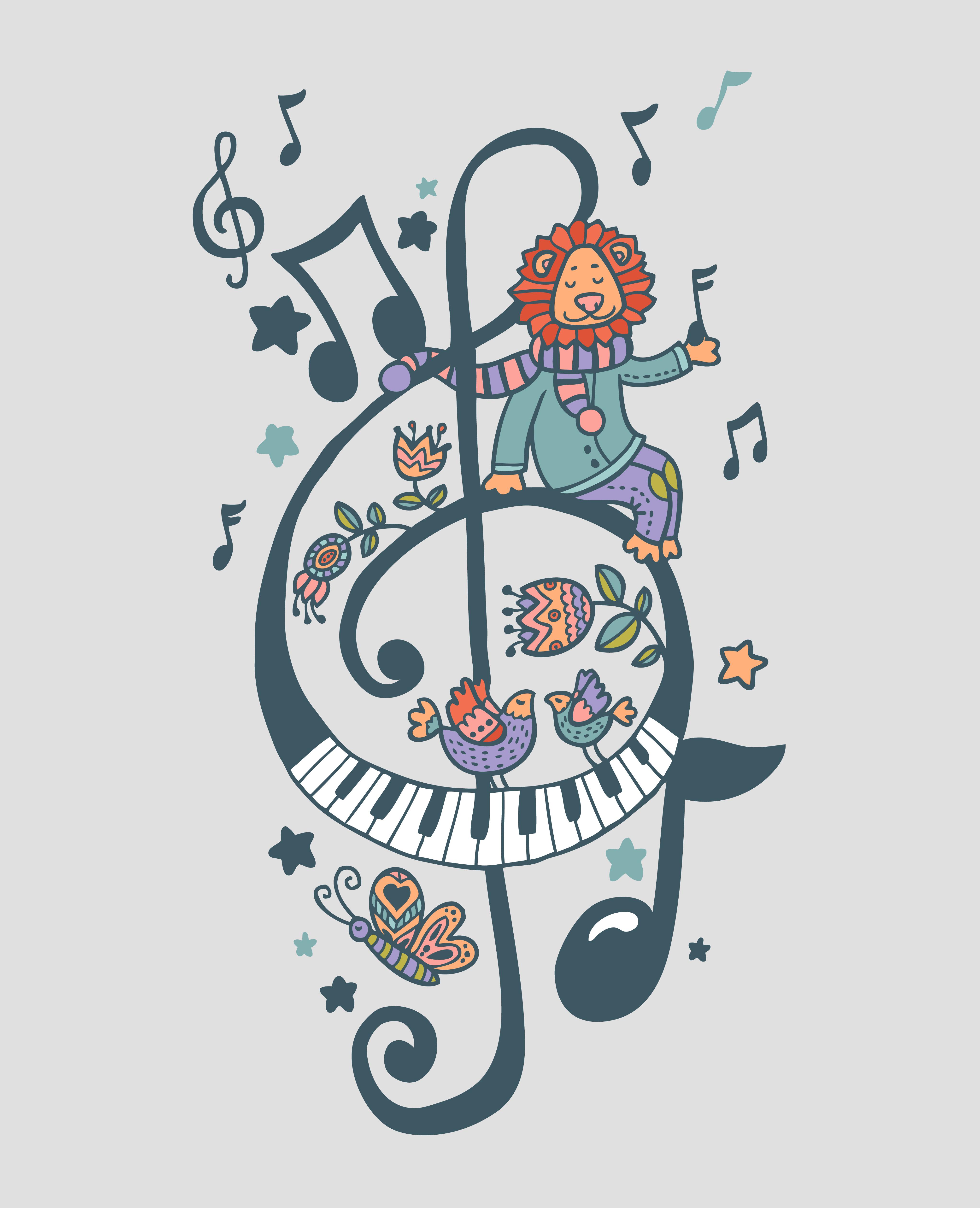 Музыкальный принт