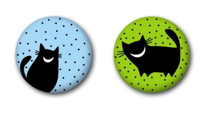 Значки с кошками