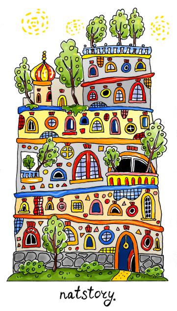 Дом в стиле Хундертвассера