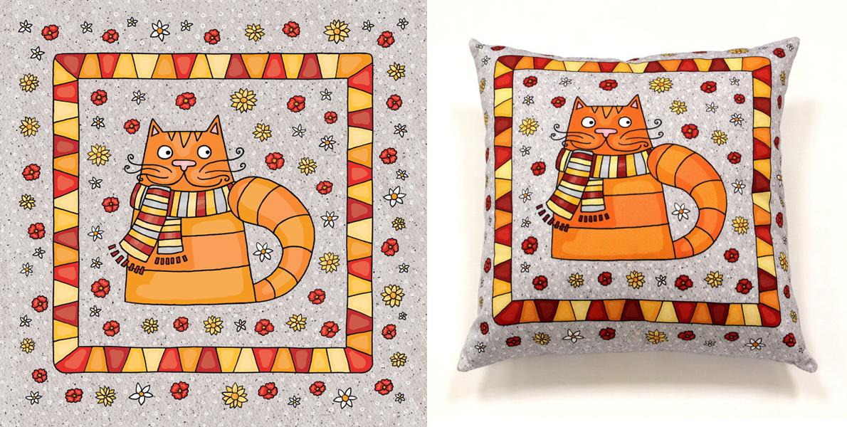 Иллюстрация для подушки