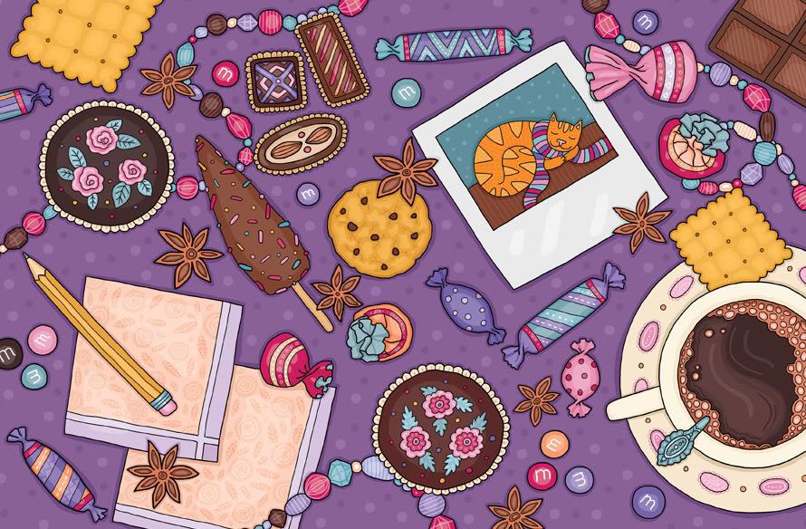Кофейная картинка для обложки блокнота