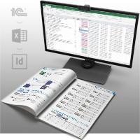 Система автовёрстки каталога электронных компонентов (1С→Excel→InDesign)