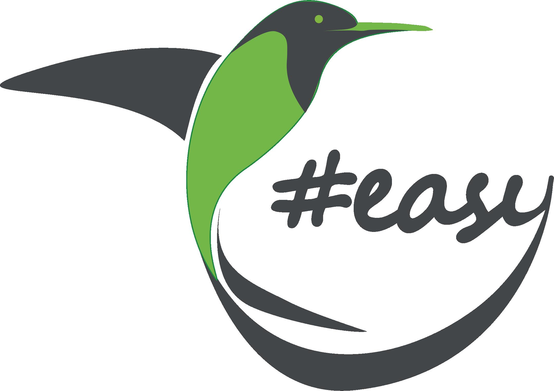 Разработка логотипа в виде хэштега #easy с зеленой колибри  фото f_1635d514f945845a.png