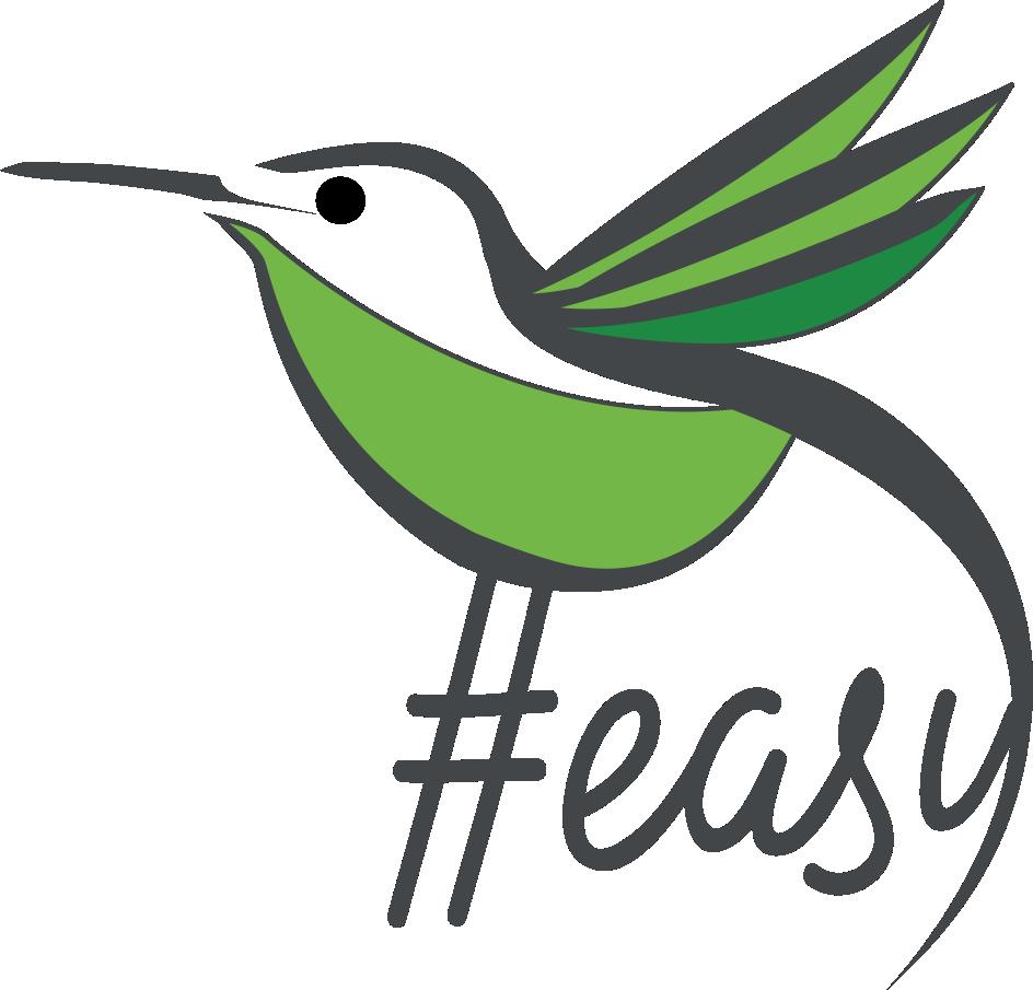 Разработка логотипа в виде хэштега #easy с зеленой колибри  фото f_7195d514f80dbd8e.png