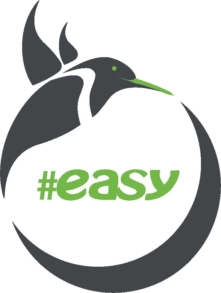 Разработка логотипа в виде хэштега #easy с зеленой колибри  фото f_9025d514f98e9cce.png
